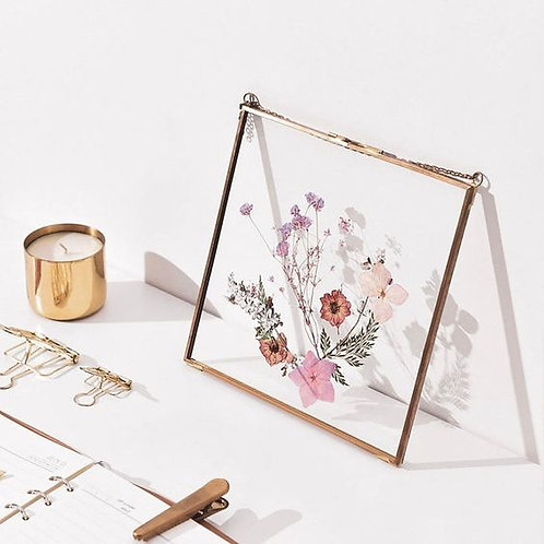 Rectangle Brass Pressed Flower Frame