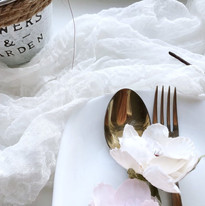 White - Cheesecloth Table Runner