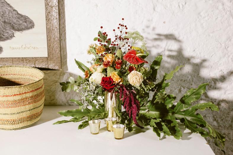 Gold Mercury Flower Vases - Hire