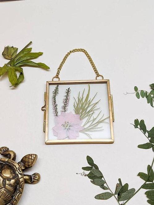 Square Brass Pressed Flower Frame