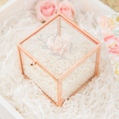 Garland Initial - Rose Gold Jewellery Box