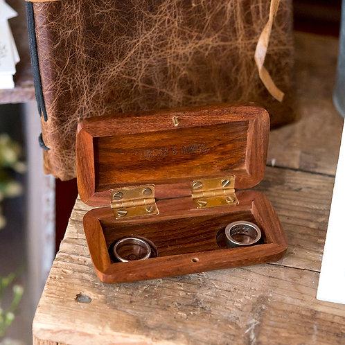 Hand Written - Wooden Wedding Ring Box