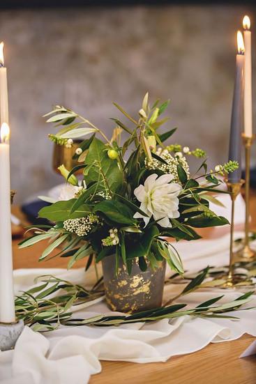 Grey Concrete Flower Vase - Hire