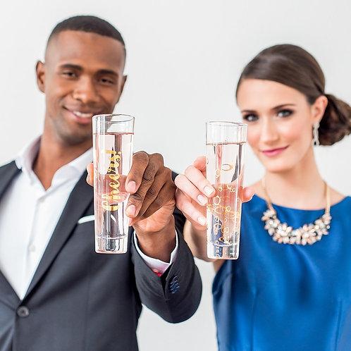 Celebrations - Stemless Champagne Flute - Set of 2 Glasses