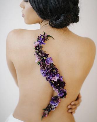 Back Flower Tattoo - $165