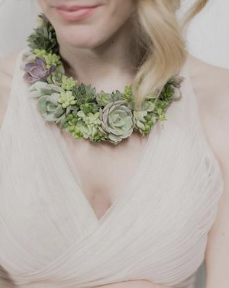 So Succulent Collar Necklace - $165