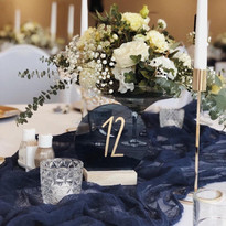 Navy Blue - Cheesecloth Table Runners