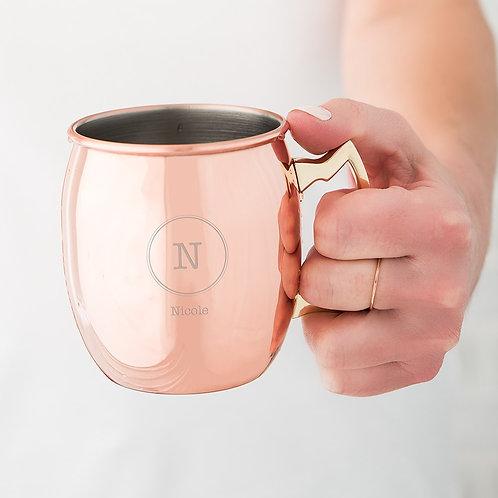 Circle Monogram - Copper Moscow Mule Mug