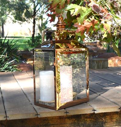 Polished Copper Lantern - Hire
