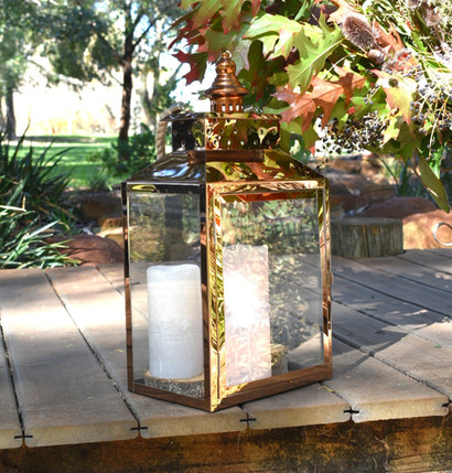 Polished Copper Lantern - Hire