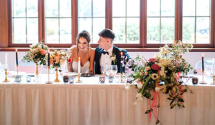 Abstract Bridal Table Arrangement - Hire