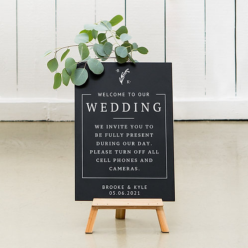 Rustic Love - Wedding Chalkboard Sign
