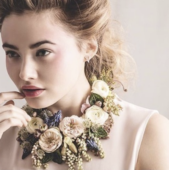 Mixed Floral Couture Necklace - $185