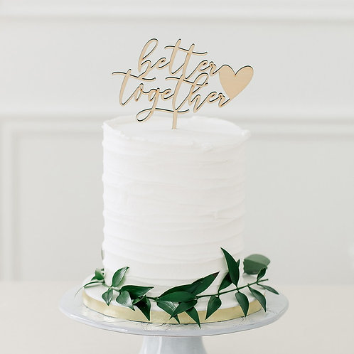 Better Together - Natural Wooden Cake Topper