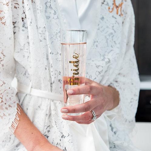 Bride - Stemless Champagne Flute