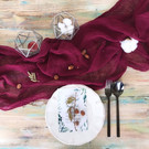 Burgundy - Cheesecloth Table Runner