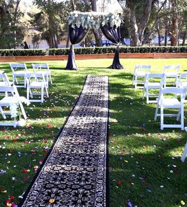 Black Persian Wedding Aisle Carpet Runner -HIRE
