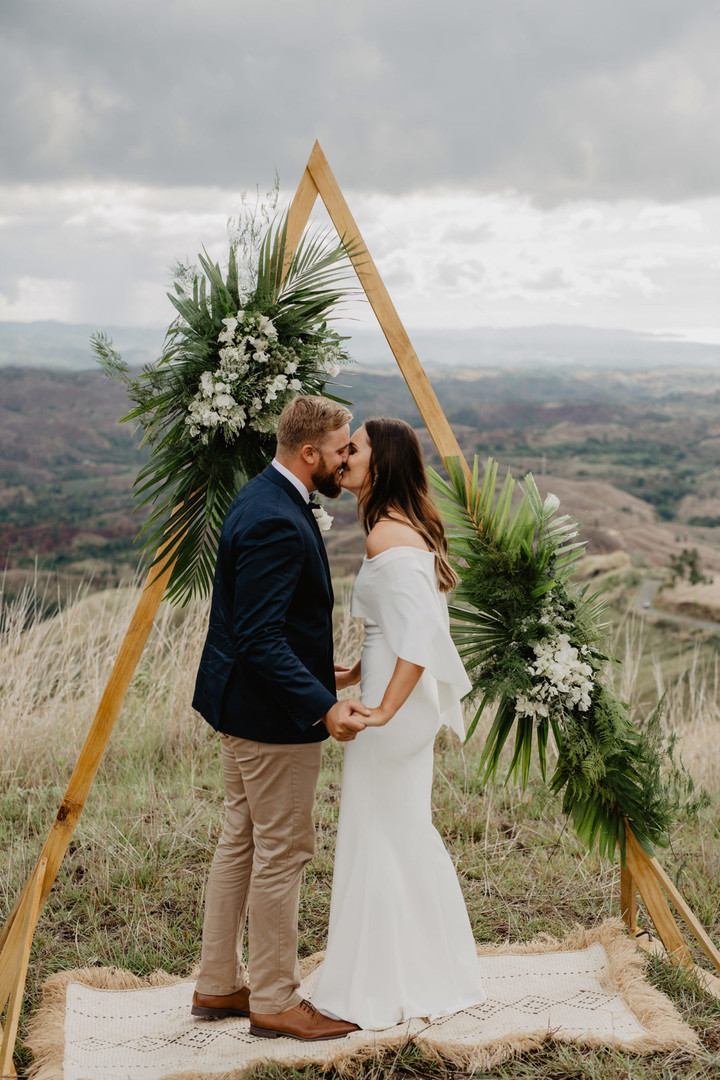 Timber Triangle Wedding Arbour - Hire
