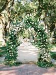Classic Floral Arch Backdrop- Hire