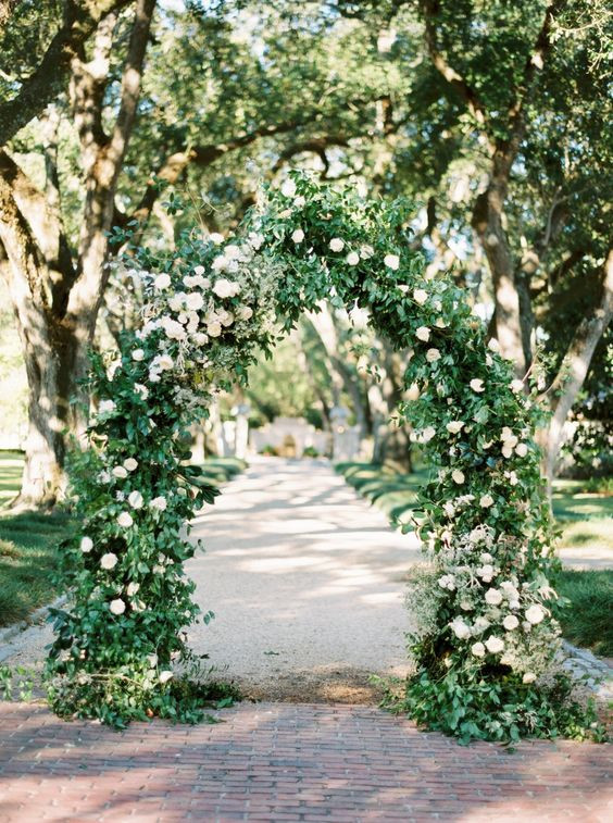 Classic Floral Arch Backdrop- Hire