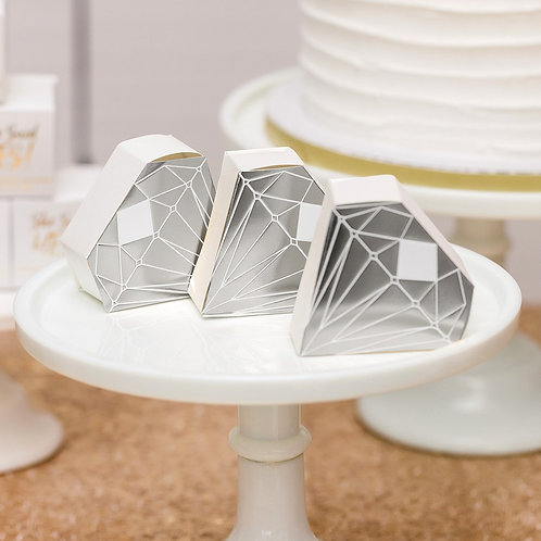 Silver Diamond Gift Box - Set of 10