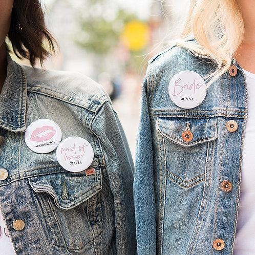 Team Bride - Personalised Wedding Badge
