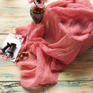 Coral - Cheesecloth Table Runner