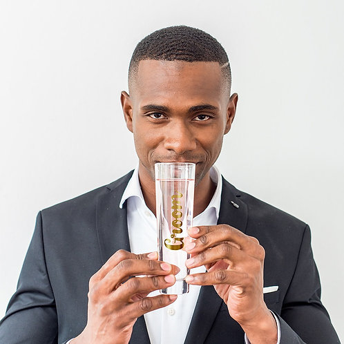 Groom - Stemless Champagne Flute