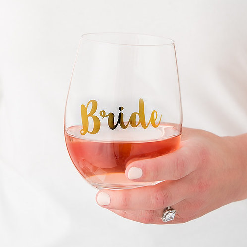 Bride - Stemless Wine Glass