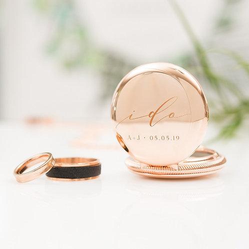 """ I Do "" - Pocket Watch Ring Holder"