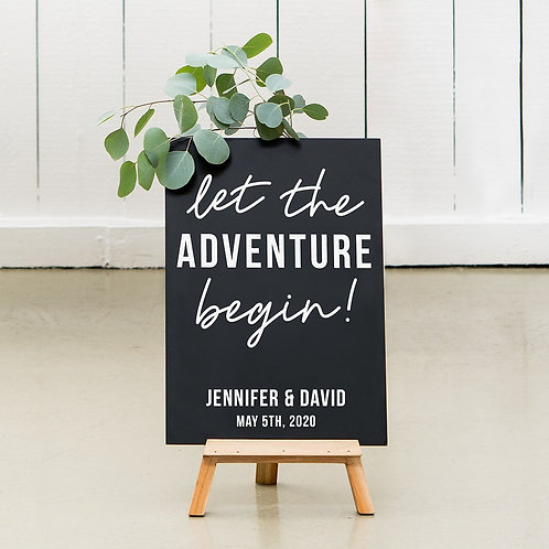 Adventure - Wedding Chalkboard Sign
