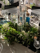 Rustic Wreath Candle Centrepiece - Hire
