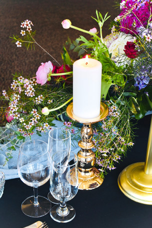 Polished Gold Pillar Candle Holder - Hire