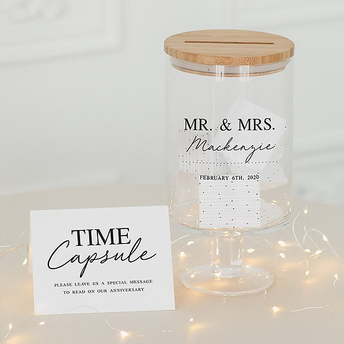 Mr and Mrs - Personalised Glass Guest Book Jar
