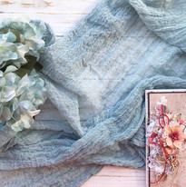 Dusty Blue - Cheesecloth Table Runner