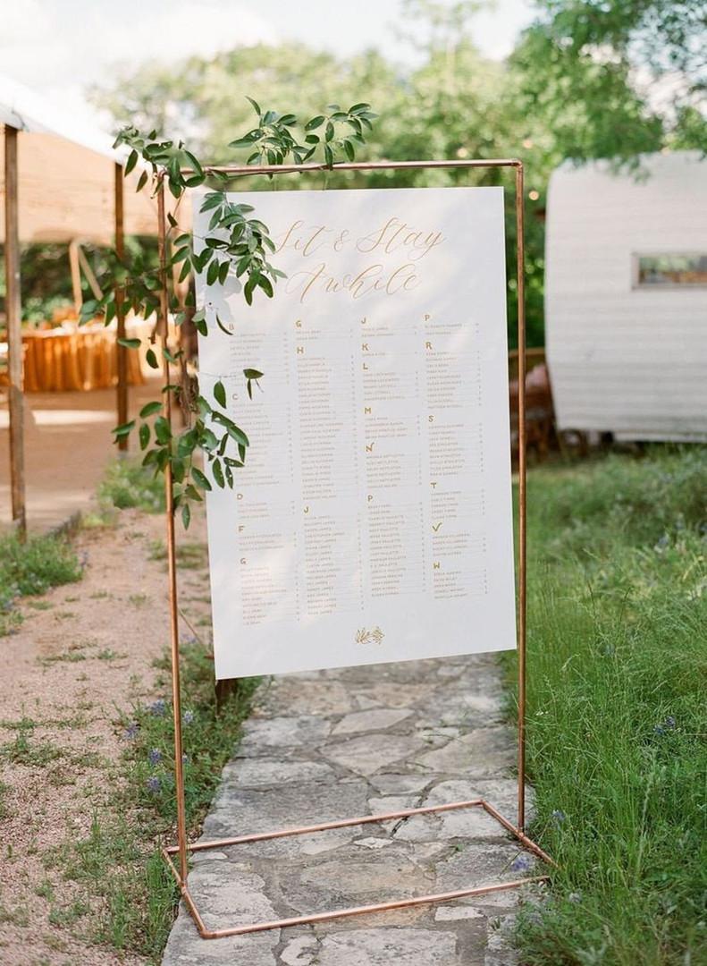 Copper Signage Frame - Hire