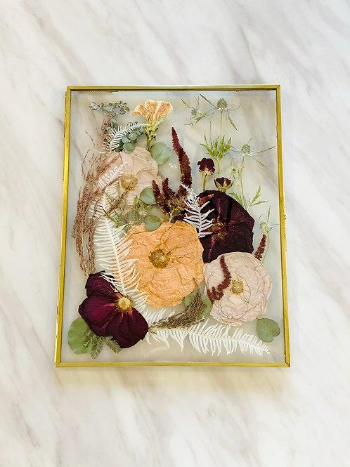 Medium Brass Pressed Flower Frame