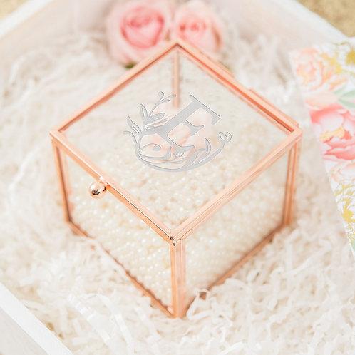 FairyTale Monogram - Rose Gold Jewellery Box