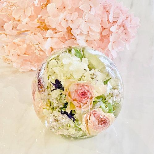 10cm Flower Ball - Flat Base