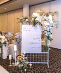 White Mesh Signage Stand - Hire