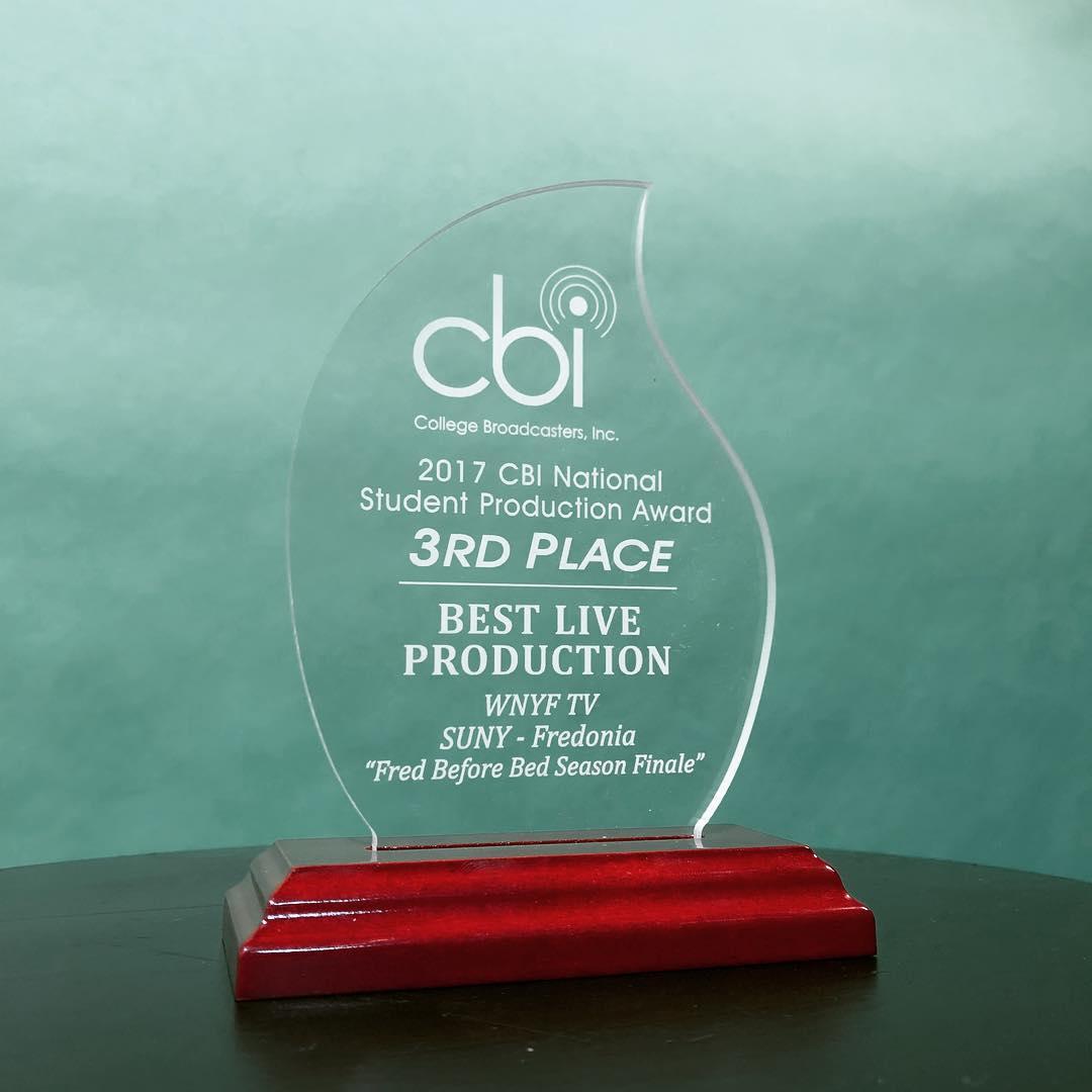 3rd Place CBI Award!