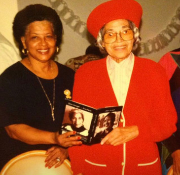 Edna Lee Stewart (left) and Rosa Parks (right)