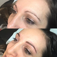 Powder Brow before and after