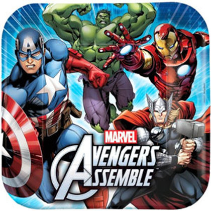 Avengers party plates pack 8 luncheon size