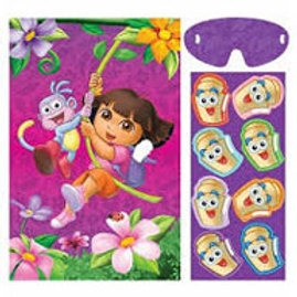 Dora the Explorer party game - pin the Map on Dora's backpack blindfolded