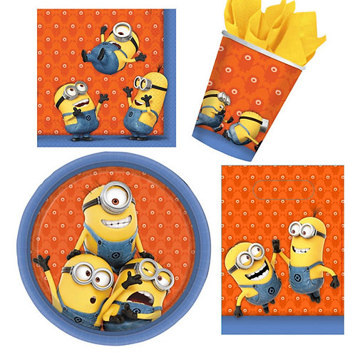 Minions mini party pack perfect to cater for small family or home parties