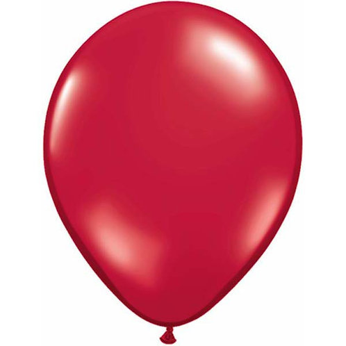 Red balloons metallic pack 10 uninflated