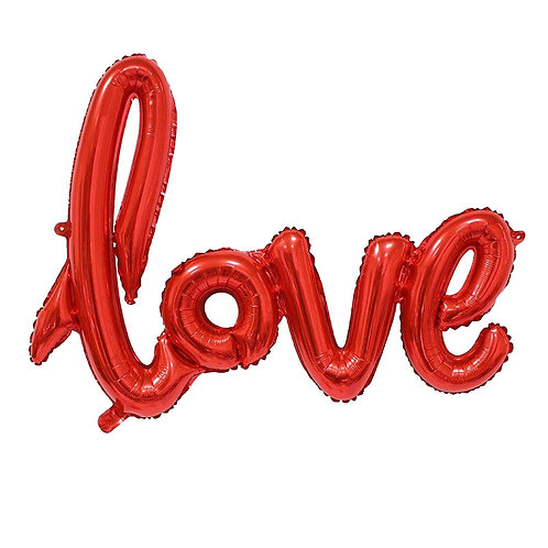 Valentines Day RED LOVE letter balloon 102 cm uninflated
