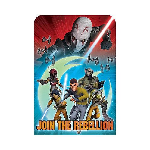 star wars rebel birthday party invitations pack 8