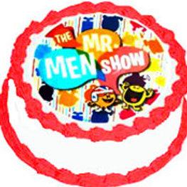 Mr Men Show Edible Icing Image Round 13 5cm